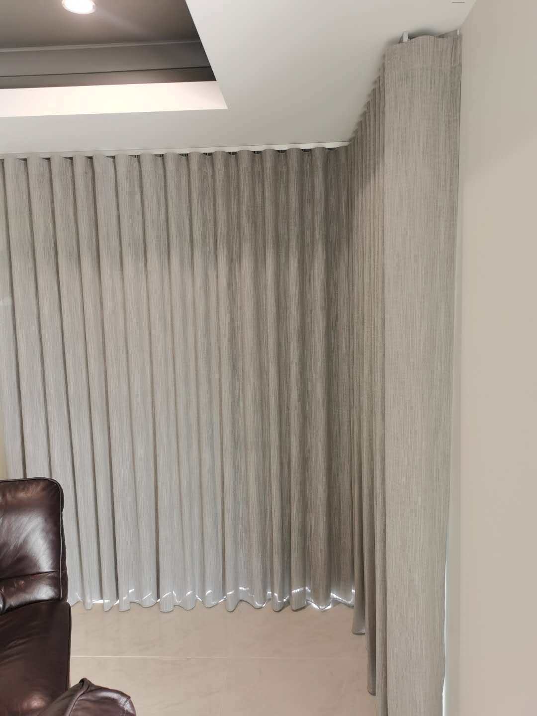 White Blockout Curtain in Living Room