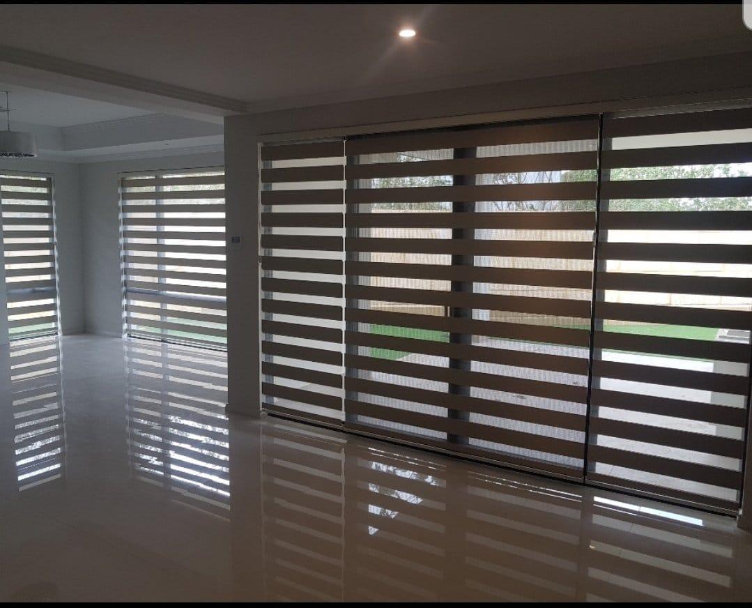 beautiful zebra blinds for a big room