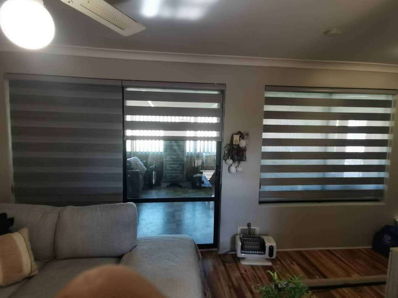 Zebra blinds for rooms.